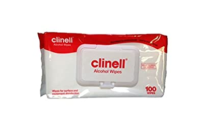Clinell Alcohol Wipes - Pack of 100 - Kills 99.999% Of Germs! - Pack of 2 from GAMA Healthcare Ltd.