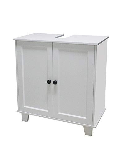 Waschbeckenunterschrank Unterschrank Badschrank mit Doppeltür durchgängiger Zwischenboden Aussparung für Abwasserleitung Badezimmerschrank mit 2 Türen und Aussparung für Wasserleitung