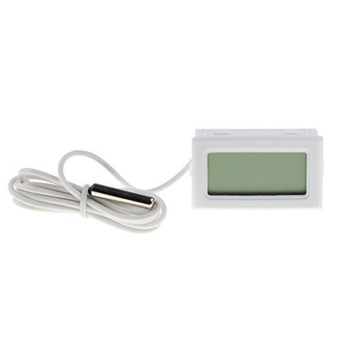 H HILABEE Medidor de Temperatura Del Termómetro Del Acuario Del Reptil LCD Digital Universal