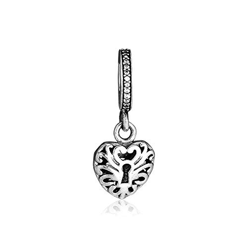 Diy Jewelry Gift Fit Pandora Bracelets Heart Padlock Charms 925 Original Sterling Silver Charm Beads For Jewelry Making Bead