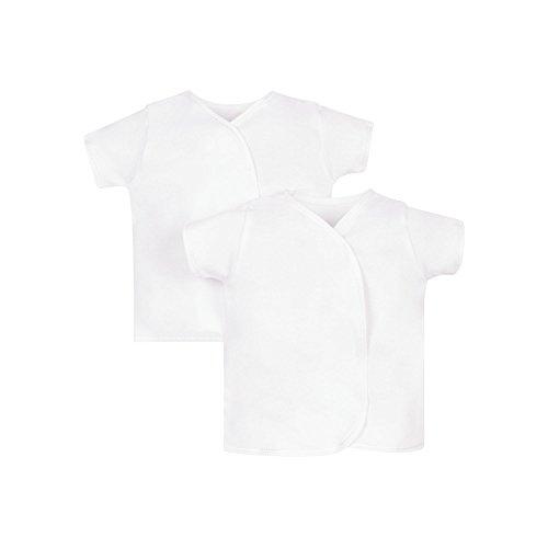 Mothercare Mothercare Unisex Baby 2 Pack Unterhemd, Weiß (White 61), 62 cm (1-3 Monate)
