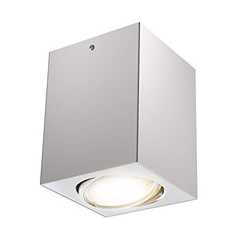 Preisvergleich Produktbild Briloner Leuchten LED Aufbauleuchte,  Deckenlampe GU10,  Reflektor schwenkbar,  400 Lumen,  3.000 Kelvin,  Silber,  8x8cm,  5 W,  Silberfarbig