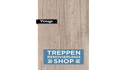 Sockelaustritt Vintage 120 cm inkl. Stellstufe Aluminum Schiene Silber für Treppenrenovierung/Treppensanierung
