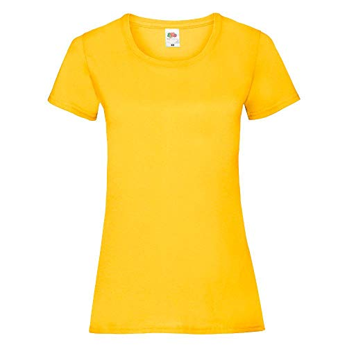 Fruit of the Loom - Lady-Fit Valueweight T - Modell 2013 XS,Sunflower
