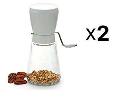 Norpro Hand Crank Nut Walnut Almond Peanut Chopper Cutter Grinder 2-Pack