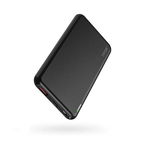 TNTOR モバイルバッテリー PD対応 急速充電 10000mAh 大容量 小型 軽量 18W 持ち運び充電器PSE認証済 METI認証済 Power Delivery対応 iPhone&Androidなど対応 (黒)