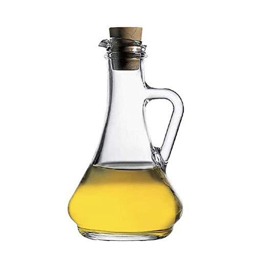 Aceitera y vinagrera De aceite de cristal, aceite de oliva con dispensador de botellas Botellas Sin goteo de aceite Boquilla vertedor de distribución for cocina Aceite de Oliva vidrio dispensador