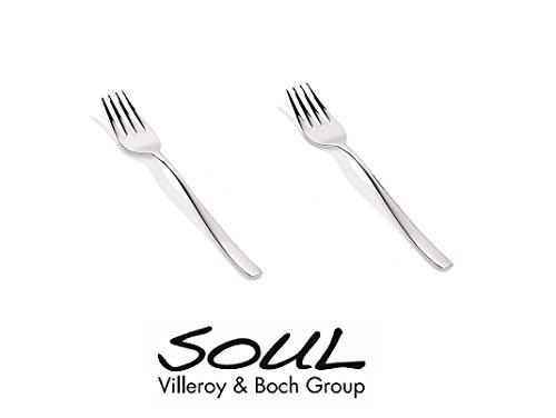 Top Shop Villeroy & Boch Soul 2Kuchengabeln 18cm Poliert Edelstahl
