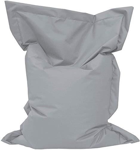 Giant Bag Sitzsack GiantBag Chill Out Liege & Sitzkissen Indoor & Outdoor Tobekissen Bodenkissen Sessel für Kinder & Erwachsene (160 x 120 cm, Grau)