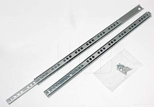 2 Stück HKB ® Schubladenschiene Teilauszug, 310-17mm, incl. Befestigungsmaterial, Hersteller HKB, Artikel-Nr. 50203