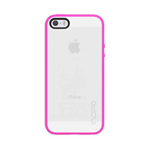 Incipio Octane Case fits iPhone 5, iPhone 5S, and iPhone SE - Frost / Neon Pink