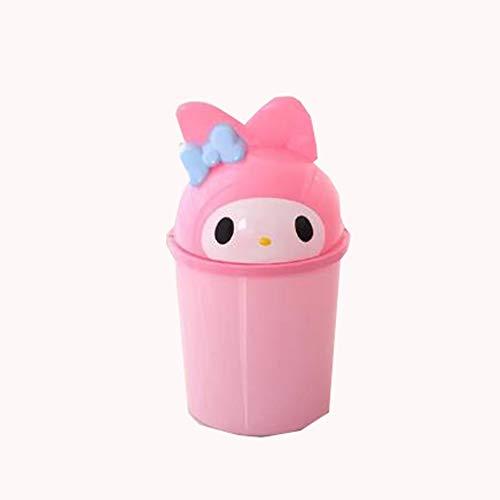 Slaapkamer Bin GJDBBLY Leuke kat Slaapkamer Mini-prullenbak voor opslag Afvalmand Deksel Kan woonkamer recyclen Roze Zoals afgebeeld-2 Melodie A