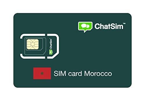 Internationale SIM-Karte für Reisen nach MAROKKO und rund um den Globus - ChatSim - Empfang in 165 Ländern, Roaming weltweit - Mehrfachanbieternetz GSM/2G/3G/4G, keine Fixkosten