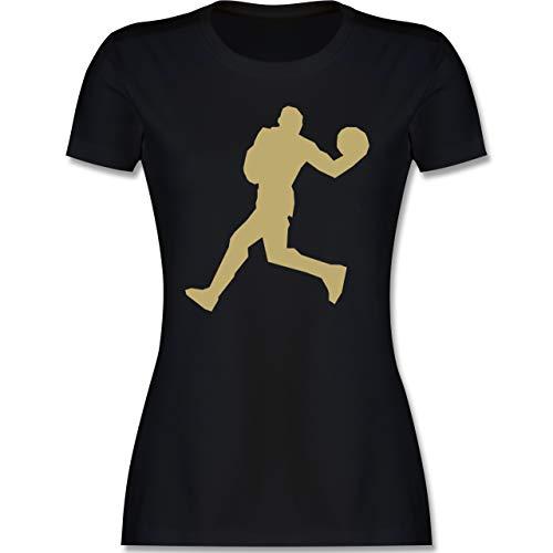 Basketball - Basketballer Gold - M - Schwarz - Teamsport - L191 - Tailliertes Tshirt für Damen und Frauen T-Shirt