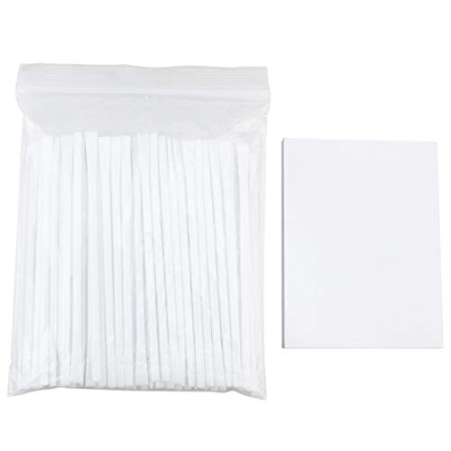 Healifty 50 Sheets Retainer Mixing Pads and 100pcs Mixing Stick for Denture Repair