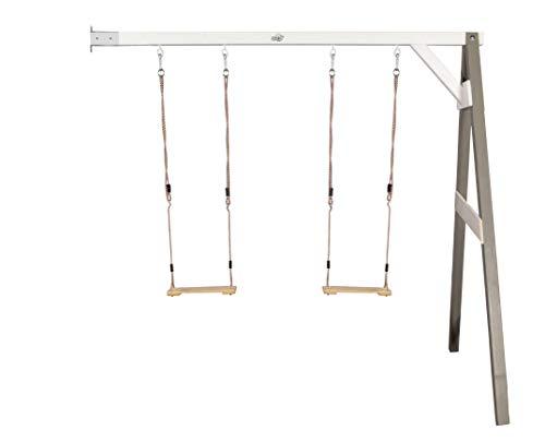 Sunny Double Swing Grey Wall Mount (FSC 100%), SUNNY09, 244 x 160 x 207 cm