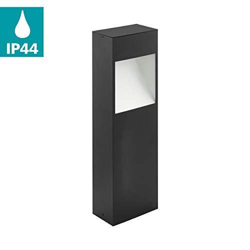 EGLO LED Außen-Sockellampe Manfria, 1 flammige Außenleuchte, Sockelleuchte aus Alu, IP44, anthrazit, weiß
