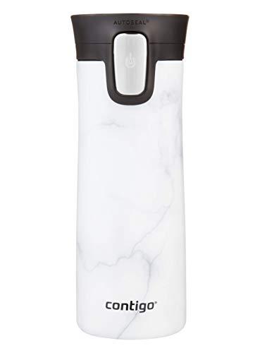 Contigo Pinnacle Autoseal taza térmica de viaje, taza de café de acero inoxidable, termo, vaso hermético, taza para bebidas calientes con tapa, sin BPA, fácil de limpiar, 420 ml