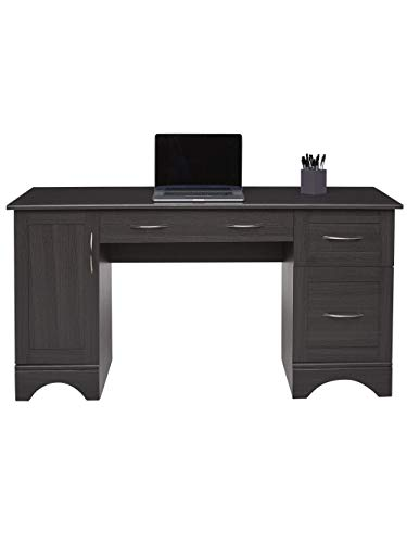 Realspace Pelingo 60'W Computer Desk, Dark Gray