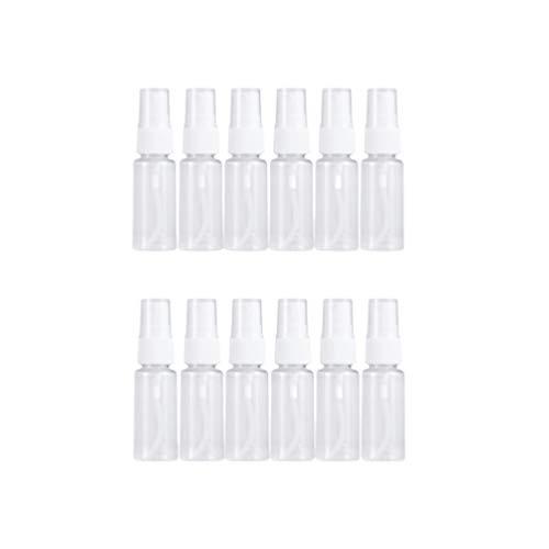 Minkissy 12 Pcs 20 Ml Transparent Vaporisateur Maquillage Parfum Bouteilles Liquides Presse Pompe Bouteille Portable Bouteilles de Voyage