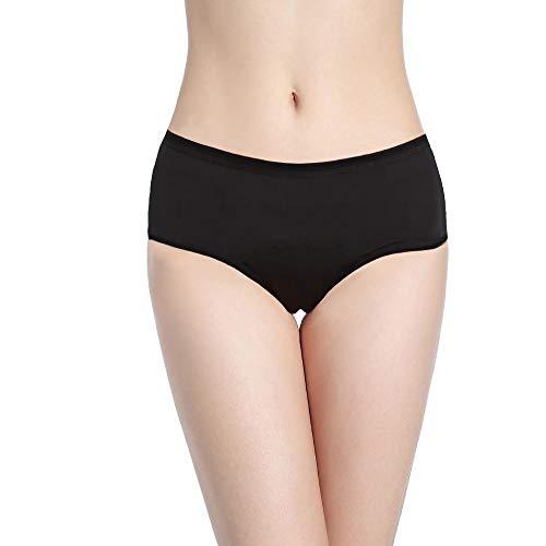 Menstruatie Ondergoed = 2 tot 3 maandverbande - Wasbaar - Katoen - Ecologisch - Absorberende Menstruatieslipjes - Periodieke hygiënische bescherming - Voor lichte tot zware menstruatie - Tiener - Maat XXS / 3XL