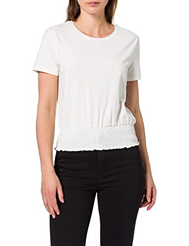 Only ONLDREA Life S/S Smock Top JRS Camiseta, Cloud Dancer, L para...