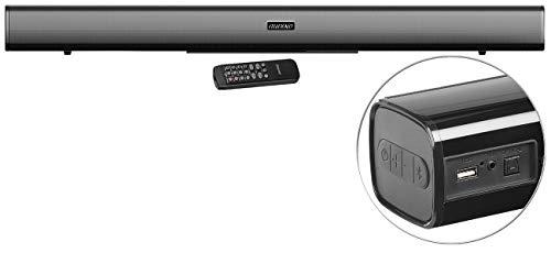 auvisio TV Zusatzlautsprecher: Stereo-Soundbar mit Bluetooth, optischem Eingang, USB, AUX, 120 Watt (Lautsprecher für Fernseher)