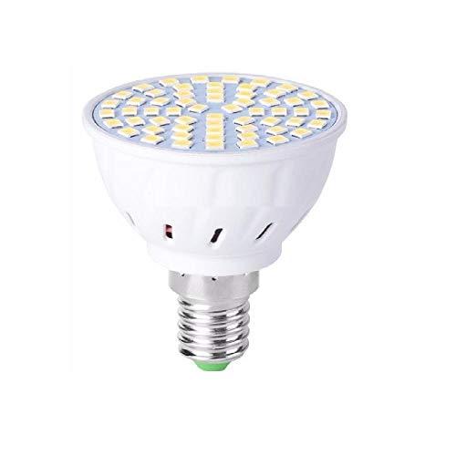 (4PCS) LED MR16 Lampadina spot E27 Lampada LED Lampada mais 220V E14 Faretto GU10 Bombillas LED GU5.3 48 60 80LEDS Lampara B22 5W 7W 9W-E14 48 led 220V_bianca