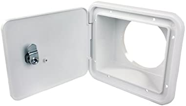 JR Products L8D82-A Polar White Thumb Lock for Sewer Hose/Storage Hatch
