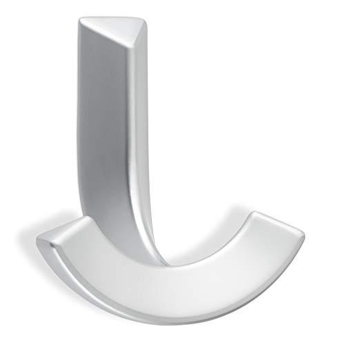 Garderobenhaken PIP Metall massiv/Chrom matt galvanisiert / 73 x 65 x 47 mm Doppelhaken 2-fach Wandhaken Doppelhaken von SO-TECH®