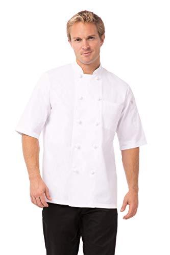 mens short sleeve chef coat - 5