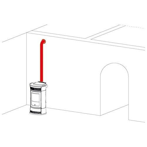 EDILKAMIN Kit de canalización de aire caliente para estufa de pellets 297360 Kit 8