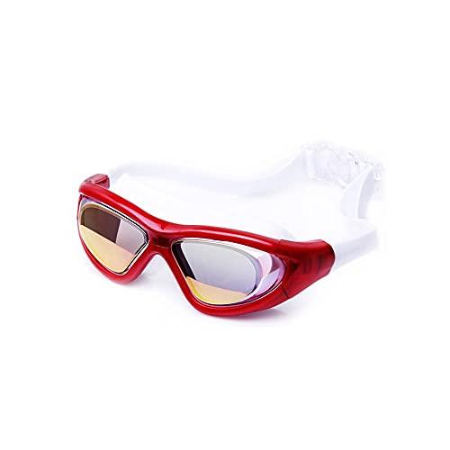 YUZHUKKKPYZ YJ - Gafas de natación para hombre y mujer, gafas de natación, gafas de baño, gafas de baño, gafas de adulto ajustables (color: rojo)
