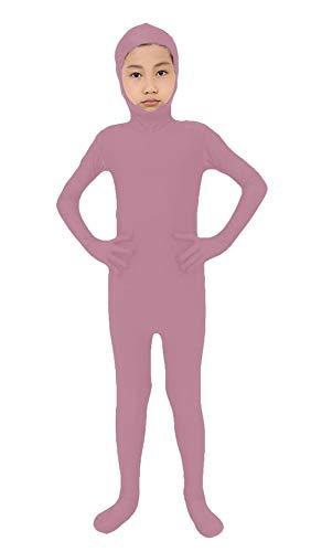 SK Studio Niño Disfraz de Segunda Piel Cara Abierta Traje Leotardo Corporal de Licra Body Rosa S