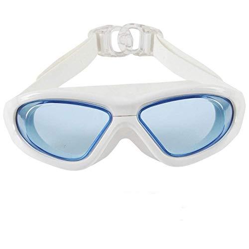 GPWDSN öppet vattenglasögon, vattentäta simglasögon, inget läckande anti-dimskydd simglasögon mjuk silikon näsbro för män, kvinnor, junior