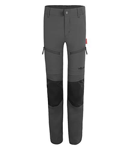 Trollkids Nordfjord Slim Fit Trekking Hose Zip Off, Anthracite, Größe 146