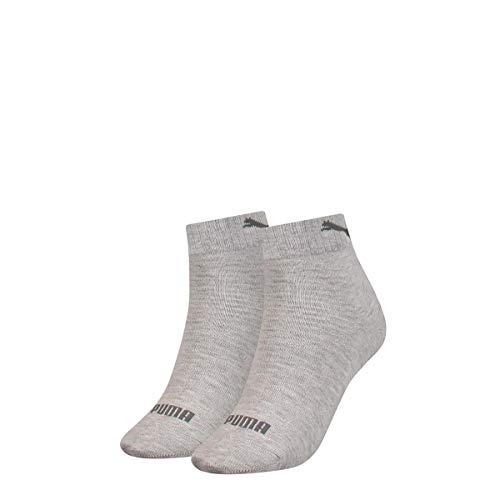 PUMA Women's Quarter Socks (2 Pack) Calzini, grigio, 35-38 Donna