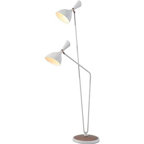 LED lampadaire de soins de l'œil nature lumière blanche debout lampe de lecture pour salon, chambre à coucher, bureau et dortoir [classe d'énergie A + + +],White