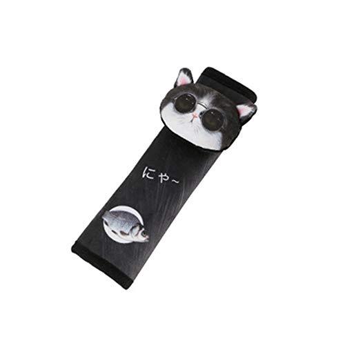 Almohadilla Cinturon Coche Extensor Cinturon Seguridad Coche El cinturón de seguridad Clips Ajustador del cinturón de seguridad Glasses cat,one size