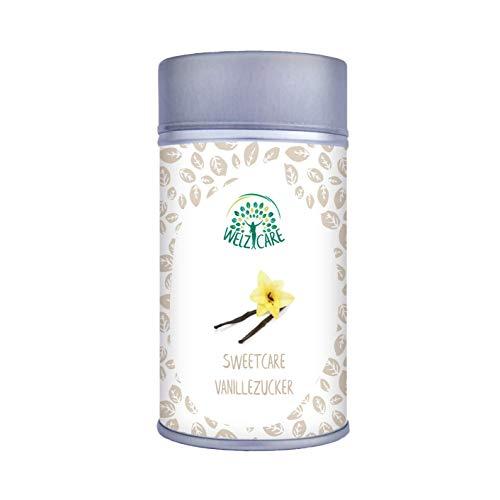 Azúcar SweetCare vainilla, la sustitución de azúcar con Erythritol, Stevia y Madagascar fino Bourbon Vanille la alternativa natural azúcar