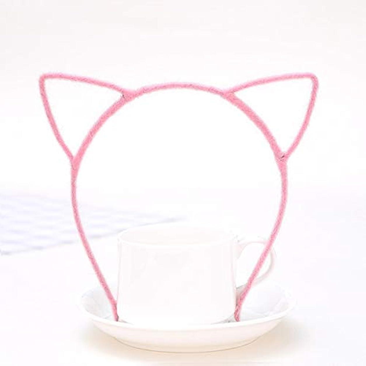 ストレスの多い月曜日ロードハウスGUANG-HOME ぬいぐるみ猫耳ヘッドバンド原宿スタイル本物の細かいヘッドバンド小悪魔猫ヘアアクセサリージュエリーヘアピン (Color : G)
