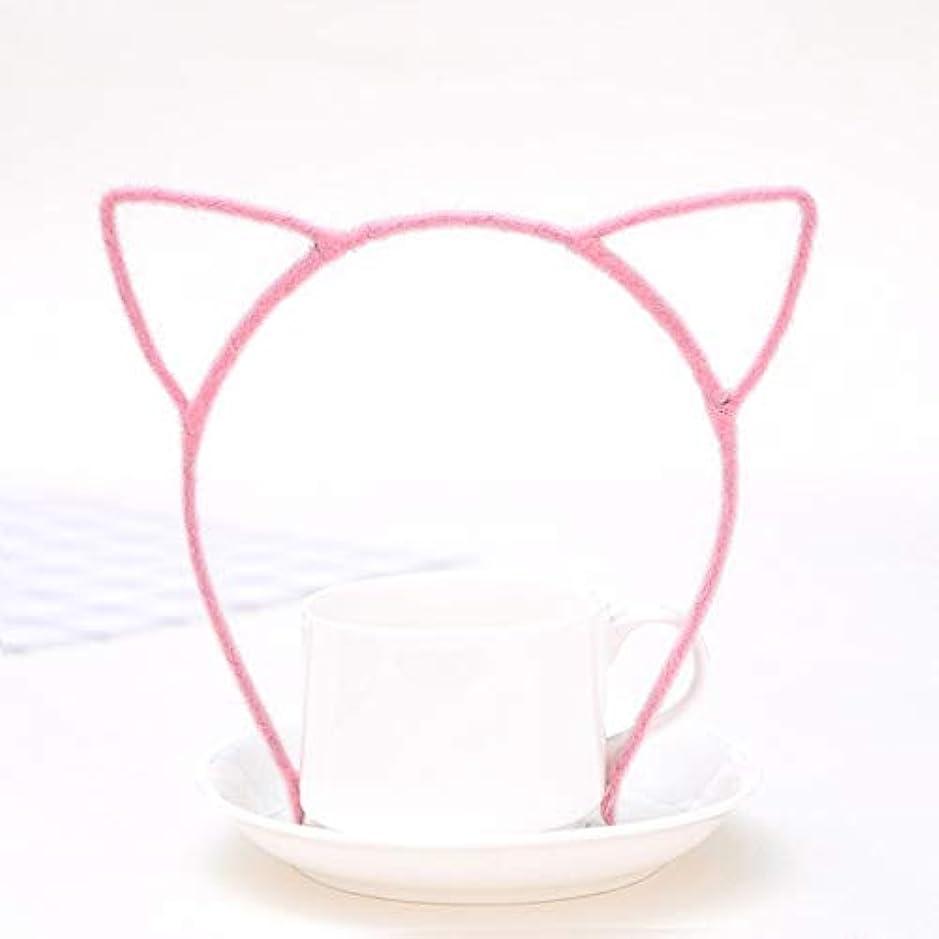 ガイド立ち寄るヘクタールGUANG-HOME ぬいぐるみ猫耳ヘッドバンド原宿スタイル本物の細かいヘッドバンド小悪魔猫ヘアアクセサリージュエリーヘアピン (Color : G)