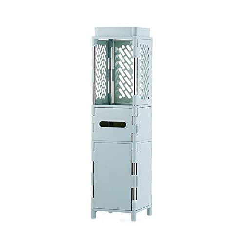 Armadi alti per il bagno, armadietti per WC da 20 cm tra gli armadietti, scaffali per cassetti dal pavimento al soffitto del bagno, adatti per aree ristrette di bagno, cucina, lavanderia
