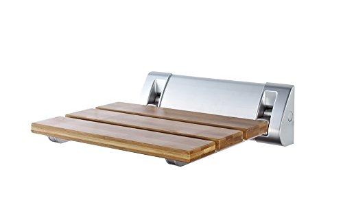 Ridder A0020200 Sedile richiudibile per doccia, Bambù [Importato da Unione Europea], bambú, beige