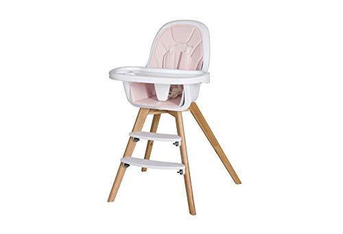 Schardt 01 050 1-240 Hochstuhl Holly mit Sitzkissen aus Kunstleder pink, Spielbrett abnehmbar, rosa