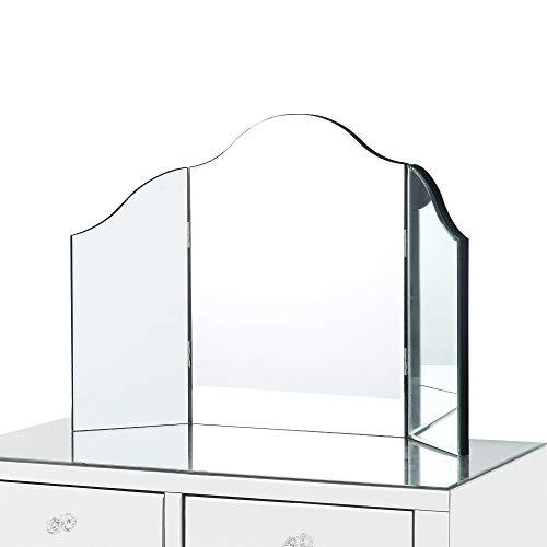 Inspired Home Tri-fold Tabletop Vanity Mirror,