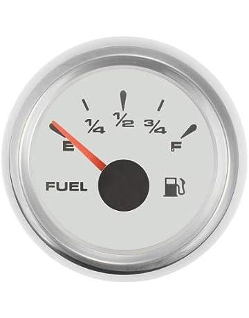 medidor de Nivel de Combustible Universal para Motocicleta de 2y 52 mm Indicador de Nivel de Combustible 8 Pantalla LED de luz 12V luosh Indicador de Nivel de Combustible