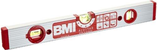 BMI 691040WM Wasserwaage Alustar, Länge 40 cm, eloxiert, mit Winkellibelle und Magnet