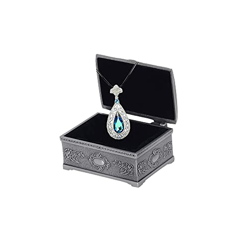 Collar de mujer con colgante de cristales de Austria Cadena de suéter hueco gancho flor colgante collar caja de joyería Embalaje