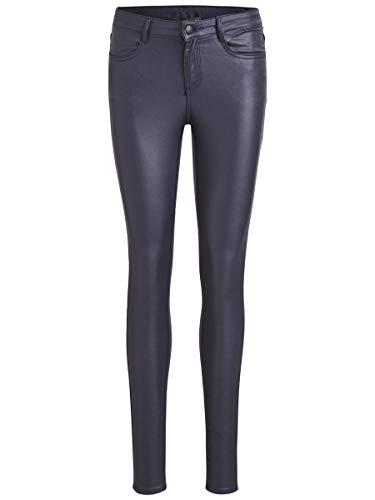 Vila Clothes Vicommit RW New Coated-Noos Pantalones, Azul (Total Eclipse), 34 (Talla del Fabricante: X-Small) para Mujer